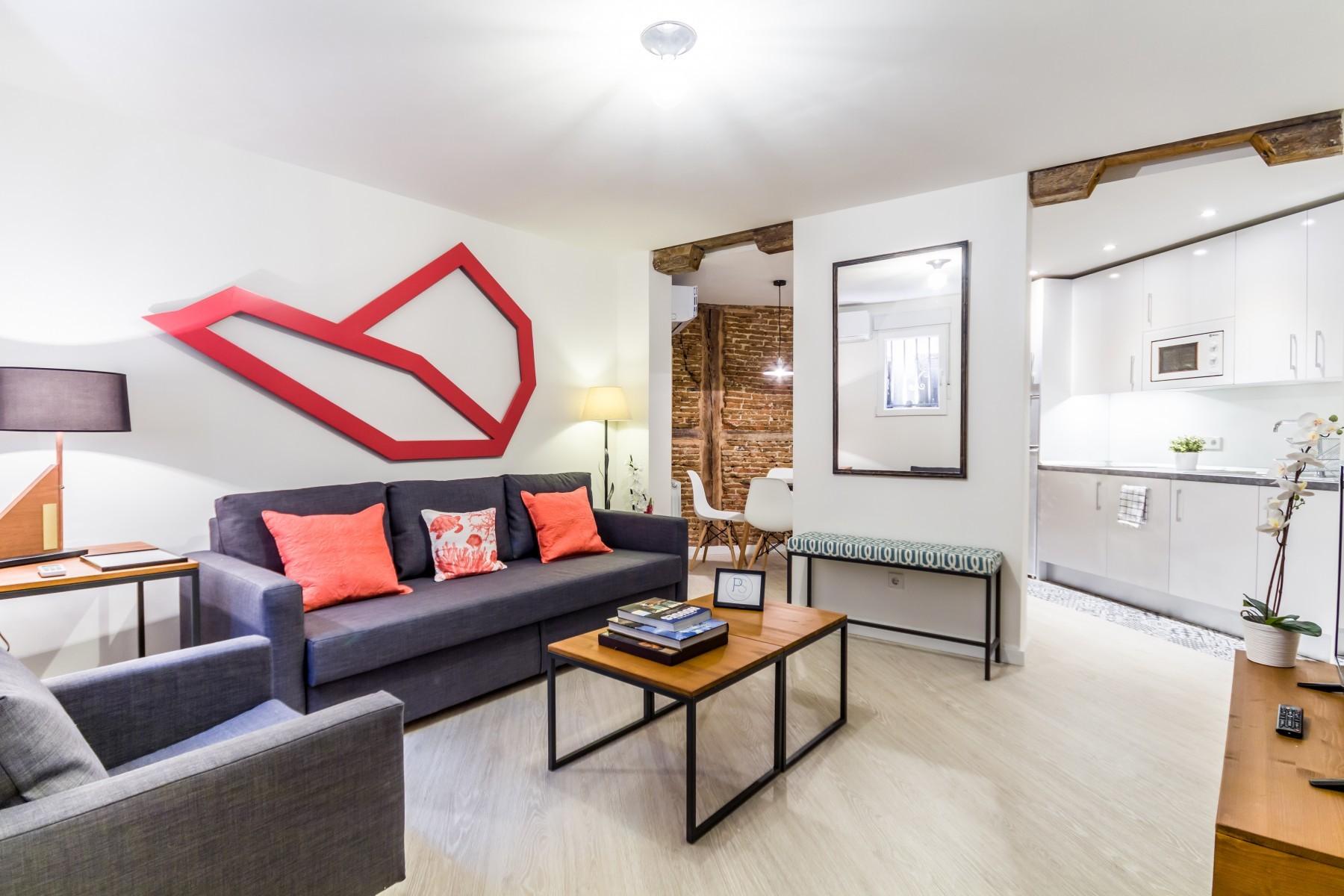 Apartamento en Madrid - Piso de 2 habitaciones totalmente equipado, con A/C e internet en Puerta del Sol!