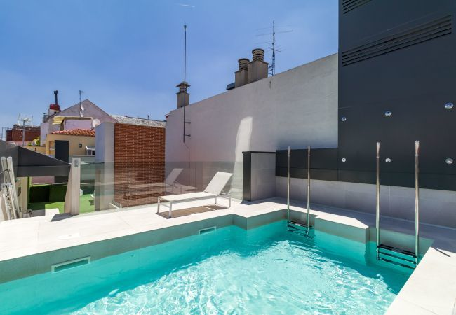 Apartment in Madrid - Design apartment, with rooftop pool, located at Salamanca neighborhood! Full equipped, with A/C and internet